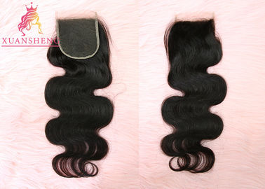Good Quality Virgin Indian Hair & Virgin Cuticle Aligned Hair Body Wave 4x4 Inches Swiss Lace Human Closures on sale