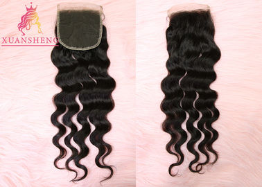 Good Quality Virgin Indian Hair & Swiss 4x4 Lace Closure Loose Wave Closure Human Brazilian Hair Weave on sale