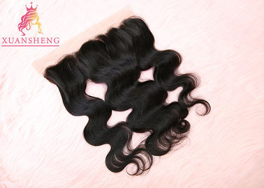 Good Quality Virgin Indian Hair & Body Wave 13x4 Lace Closure Raw Virgin Closure Hair / Mink Brazilian Hair on sale