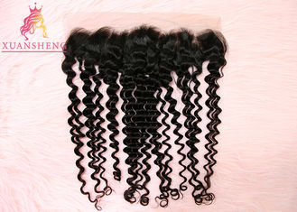 Good Quality Virgin Indian Hair & Unprocessed Virgin 13x4 Lace Frontal  Malaysian Curly Human Hair No Tangle on sale