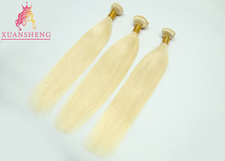 Good Quality Virgin Indian Hair & Straight Brazilian Virgin Colored Hair , Honey Blonde Unprocessed Human Weave on sale