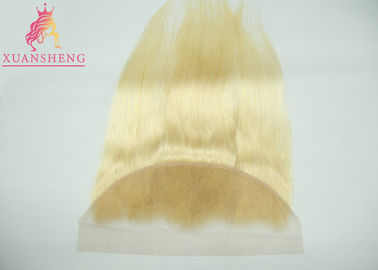 Good Quality Virgin Indian Hair & Straight #613 Brazilian Blonde Lace Hair / Full Lace Frontal Closure 13x4 Weave on sale