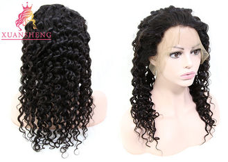 Good Quality Virgin Indian Hair & Virgin Brazilian Unprocessed Deep Wave Hair Full Swiss Lace Human Wigs on sale