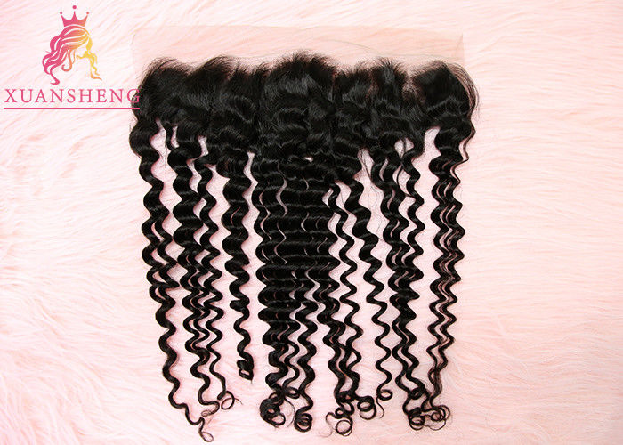 Unprocessed Virgin 13x4 Lace Frontal  Malaysian Curly Human Hair No Tangle