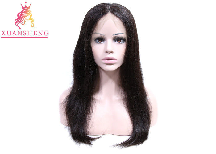 150% Density Human Lace Front Wigs Customized Swiss Lace Silky Straight