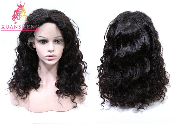 XS Virgin Human Lace Front Wigs Loose Curly Unprocessed Virgin Human Hair