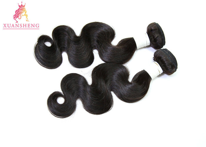 Raw Cuticle Perunian Human Hair / Glossy Peruvian Body Wave Extensions