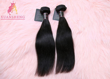 Cuticle Aligned Malaysian Straight Hair , Straight Virgin Hair Bundle Natural Color