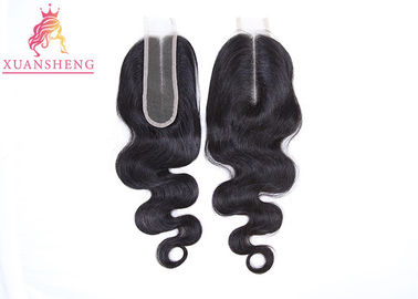 Real Virgin Body Wave Kim Closure Hair, Black Hair 2*6 Transparent Lace Closure