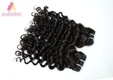 Fashion Peruvian Human Hair Bundles / Italian Curly Hair Bundles