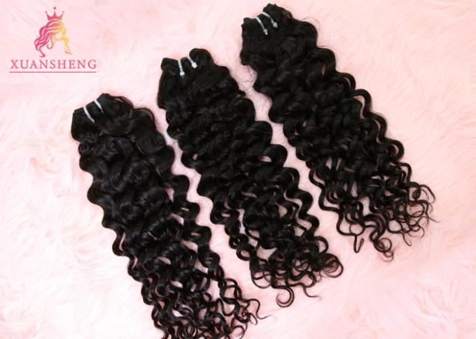 Clean And Silky Virgin Human Italian Wave Bundles Without Synthetic Hair
