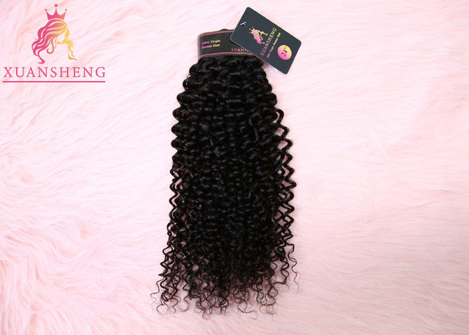 Unprocessed Real Virgin Indian Hair Deep Curly Extensions Full Bottom